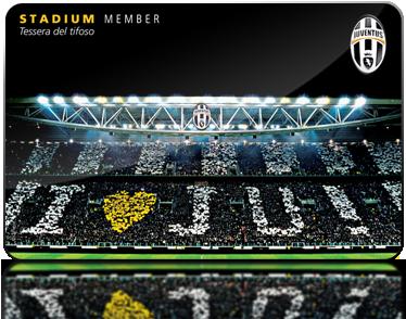 Risultati immagini per tessera del tifoso juventus stadium