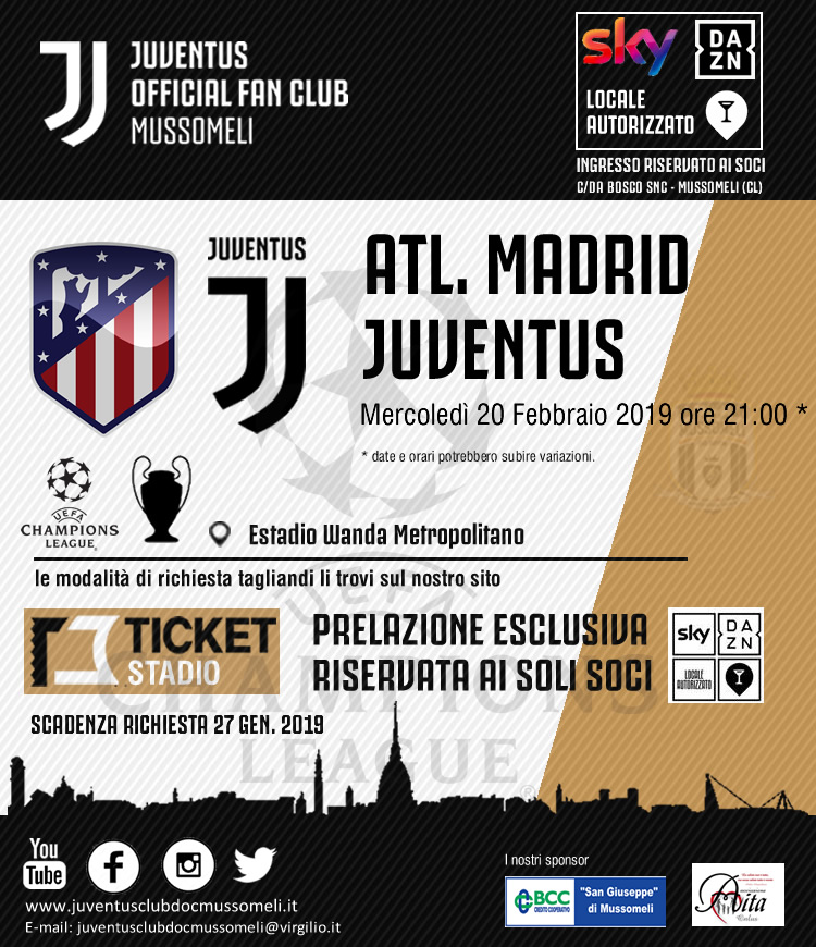 4c44ecf336 RICHIESTA BIGLIETTI CHAMPIONS LEAGUE: ATL. MADRID VS JUVENTUS - SCAD ...